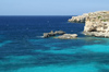 Malta - Comino: rocks at the entrance to the blue lagoon (photo by A.Ferrari)