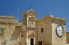 Gozo / Ghawdex:  Victoria / Rabat - clock tower and St Mary's Cathedral (photo by  A.Ferrari )