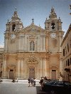 Malta: Mdina - the cathedral of St. Peter & Paul - architect: Lorenzo Gafa (photo by M.Torres)