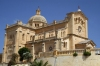 Gozo / Ghawdex: Gharb - Our Lady of Ta Pinu curch and belfry (photo by  A.Ferrari )