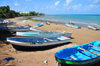 Pamandzi, Petite-Terre, Mayotte: boats on the beach - photo by M.Torres