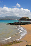 Labattoir, Petite-Terre, Mayotte: Mronyomb�ni beach - looking towards Foungoujou and Mahor� - photo by M.Torres