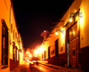 Mexico - San Miguel de Allende (Guanajuato): Calle Correo at night (photo by R.Ziff)