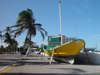 Mexico - Veracruz: boat on the street / barco en la calle (photo by A.Caudron)