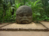 Mexico -  Villahermosa - Parque-Museo La Venta: Olmec head (photo by A.Caudron)