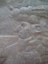Mexico - Villahermosa - Parque-Museo La Venta: Olmec bas-relief (photo by A.Caudron)
