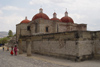 Mexico - Mitla: Catholic church built over Zapotecan pyramid (photo by A.Caudron)