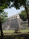 Mexico - Palenque (Chiapas): Mayan pyramid - Temple of the Inscriptions above the tomb of Pakal the Great - Unesco world heritage site  (photo by A.Caudron)
