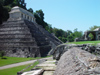 Mexico - Chiapas - Palenque (Chiapas): Mayan pyramid - Temple of the Inscriptions - side view - Unesco world heritage site  (photo by A.Caudron)