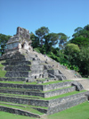 Mexico - Chiapas - Palenque (Chiapas): Mayan pyramid - Temple of the Cross - Unesco world heritage site  (photo by A.Caudron)