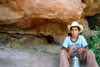 Mexico - Bahia De Los Angeles (Baja California): Mexican boy with hat and lantern - photo by G.Friedman