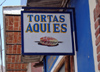 93  Mexico - Jalisco state - Ajijic - tortas shop - sign - photo by G.Frysinger