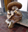 24  Mexico - Jalisco state - san pedro tlaquepaque - mariachi statue - photo by G.Frysinger