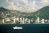 Mexico - Acapulco / ACA (Guerrero state): skyline seen from the sea - photo by D.Smith