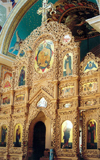 Chisinau / Kishinev / KIV: Orthodox Cathedral - the iconostasis - photo by M.Torres