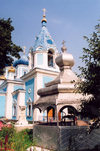 Chisinau / Kishinev, Moldova:Church of St. Teodor Tiron - Ciuflea - the well - Catedrala episcopala Sf. Teodor Tiron - Biserica Sf. Tiron - photo by M.Torres