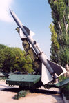 Chisinau / Kishinev, Moldova: S300 anti-aircraft missile - open air military exhibition - photo by M.Torres