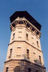 Chisinau / Kishinev, Moldova: old water tower on A.Mateevici street - Kishinev's Historical Museum - architect Alexander Bernadazzi - Castelul de apa - Muzeul de Istorie a Orasului Chisinau - photo by M.Torres