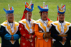 Ulan Bator / Ulaanbaatar, Mongolia: Naadam festival - singers at the opening ceremony - photo by A.Ferrari