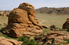 Gobi desert, southern Mongolia - Dundgovi aimag: rock formations at Baga Gazriin Chuluu - granite - photo by A.Ferrari