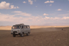 Mongolia - Gobi desert: local jeeps - marshrutka - Russian 4x4 van - photo by A.Summers