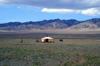 Gobi desert, southern Mongolia: ger, pitched in the middle of nowhere, in Gurvan Saikhan National Park - photo by A.Ferrari