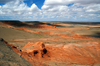 Gobi desert - �mn�govi province, southern Mongolia: above the flaming cliffs of Bayanzag - photo by A.Ferrari
