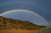 Gobi desert, southern Mongolia: rainbows, near Ongiin Khiid - photo by A.Ferrari