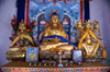 Gobi desert, southern Mongolia: statues inside a Buddhist temple, Ongiin Khiid - photo by A.Ferrari