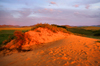 Khustain Nuruu National Park, Tov province, Mongolia: sand dune in the evening light - photo by A.Ferrari
