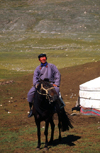 Mongolia - Kharkhiraa mountains: nomadic herder and Ger / yurt - photo by A.Summers