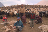 Mongolia - Khentii province: family - shearing sheep - photo by A.Summers