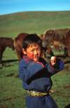 Mongolia - Uvs province: hearder boy - photo by A.Summers