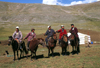 Mongolia - Uvs province: mounted herders and yurt / ger - photo by A.Summers