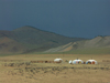 Mongolia - Tsetserleg / TSZ - Arkhangai Aimag: gers and the Khangai Mountains - photo by P.Artus