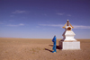 Mongolia - Gobi desert: stupa in the south / oova - photo by A.Summers