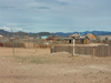 Mongolia - Burgun, Bayan-Ölgiy Aymag: Simple wooden houses surrounded by stockades - photo by P.Artus