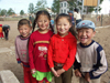 Mongolia - Burgun, Bayan-Ölgiy Aymag: smiling children - photo by P.Artus