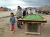 Mongolia - Tsetserleg / TSZ - Arkhangai Aimag: all fresco billiards / pool - photo by P.Artus