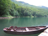 Montenegro - Crna Gora - Biogradska gora national park: boat at Biogradska Jezero - photo by J.Kaman