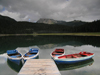 Montenegro - Crna Gora - Durmitor national park: Crno jezero - boats in the lake - photo by J.Kaman