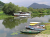 Montenegro - Crna Gora - Lake Skadar / Skadarsko jezero: boats on a canal - photo by J.Kaman