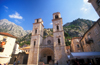 Montenegro - Kotor: Cathedral of St. Tryphon and the mountains - chiesa cattolica di San Trifone - photo by D.Forman