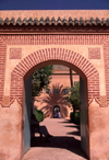 Morocco / Maroc - Marrakesh: La Menara - bricks and calligraphy - photo by F.Rigaud