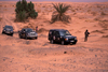 Morocco / Maroc - Merzouga: 4WD caravan in the desert - photo by F.Rigaud