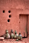 Morocco / Maroc - Tamegroute: ventilation holes and amphorae - hoto by F.Rigaud