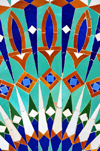Casablanca, Morocco / Maroc: Hassan II mosque - detail of zellige decoration - Moroccan terra cotta geometrical mosaics - photo by M.Torres