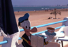 Morocco / Maroc - Mazagão / El Djadida: Donald duck on the beach / praia - photo by F.Rigaud