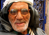 Morocco / Maroc - Mogador / Essaouira: old man with thick glasses (photo by J.Kaman)