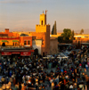Morocco / Maroc - Marrakesh: Mosque by Place Djemaa el-Fna - medina - Unesco world heritage site - photo by W.Allgower